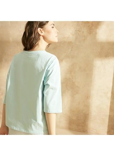 Yargıcı 3/4 Kollu T-Shirt Yeşil